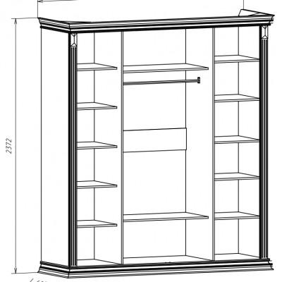 Шкаф для одежды 4х створчатый Бьянка