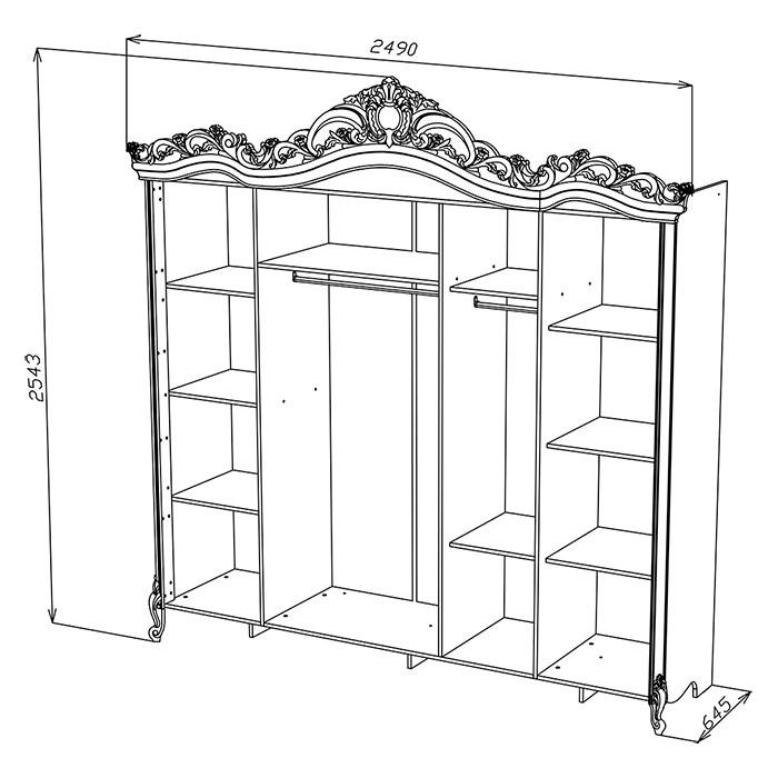 шкаф амели